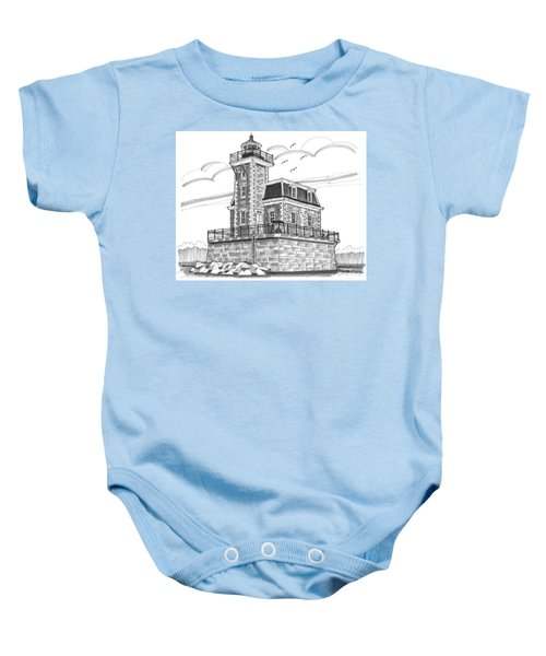 Hudson-athens Lighthouse Baby Onesie