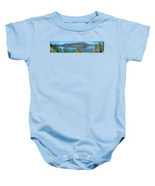 June Lake Panorama Baby Onesie