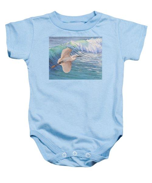 Little Egret Baby Onesie
