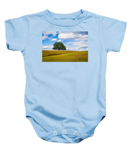 Baby Onesie featuring the photograph Lone Oak by Vincent Bonafede