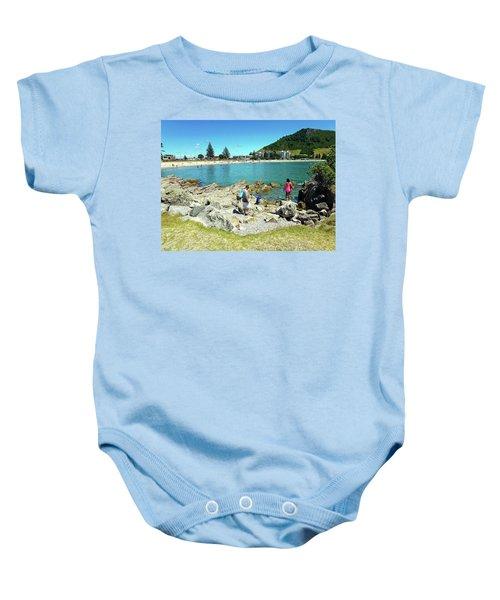 Mount Maunganui Beach 12 - Tauranga New Zealand Baby Onesie