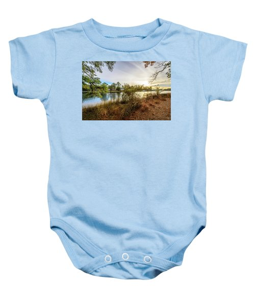 Over The River Baby Onesie