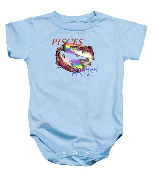 Pisces Artist Baby Onesie