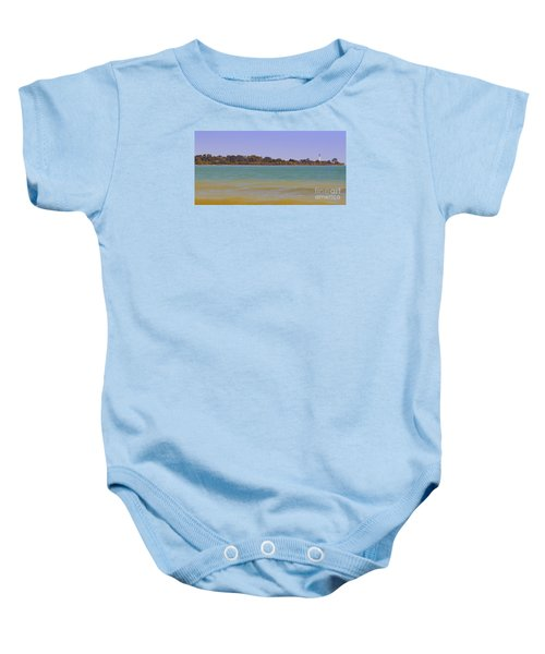 Baby Onesie featuring the photograph Racine Lakefront by Ricky L Jones