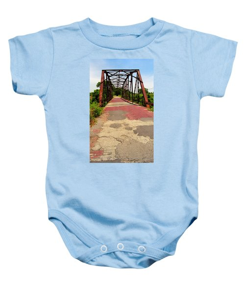 Baby Onesie featuring the photograph Route 66 - One Lane Bridge by Frank Romeo