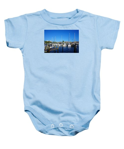 The Naples City Dock Baby Onesie