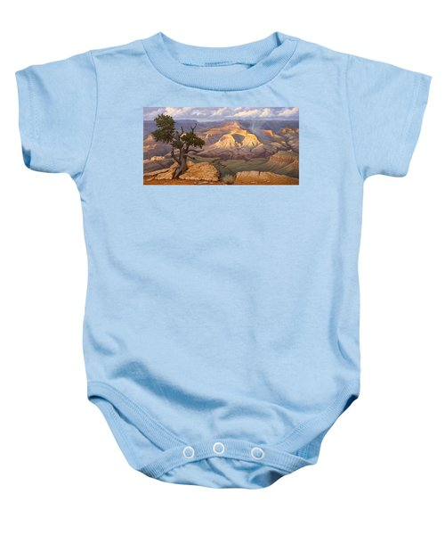 Zoroaster Temple From Yaki Point Baby Onesie by Paul Krapf