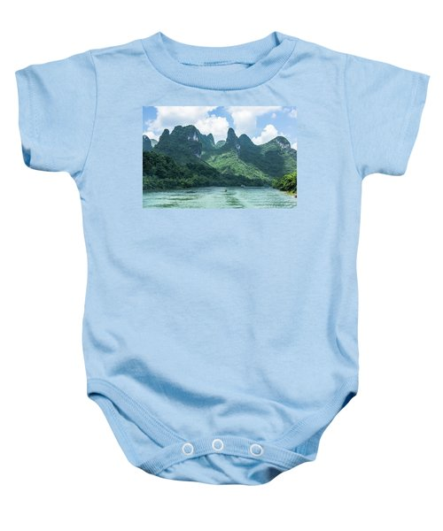 Lijiang River And Karst Mountains Scenery Baby Onesie