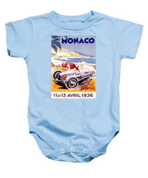 1936 F1 Monaco Grand Prix  Baby Onesie