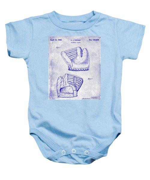 1945 Baseball Glove Patent Blueprint Baby Onesie
