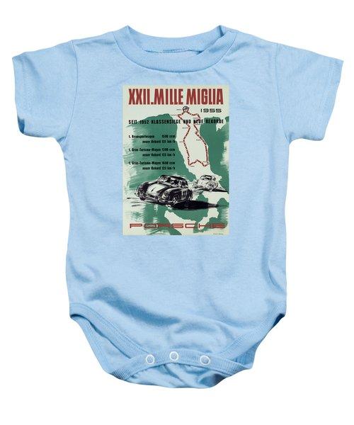 1955 Mille Miglia Porsche Poster Baby Onesie
