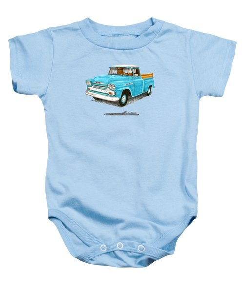 Apache Pick Up Truck Baby Onesie