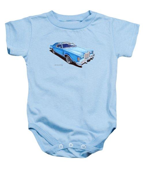 1979 Thunderbird Tee Shirt Art Baby Onesie