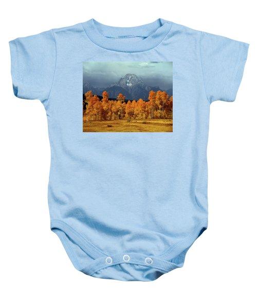 1m9235 Mt. Moran In Autumn Baby Onesie