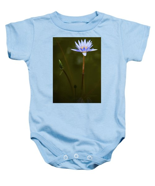 Deep Lily Reflection Baby Onesie