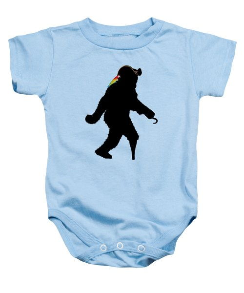 Gone Squatchin Fer Buried Treasure Baby Onesie by Gravityx9  Designs