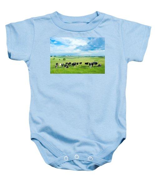 Happy Cows Baby Onesie
