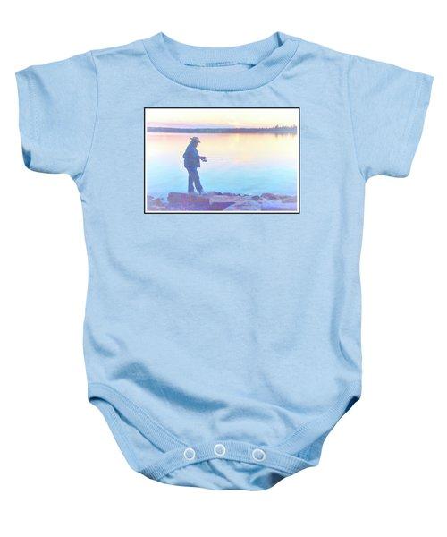 Sunrise Fisherman Baby Onesie