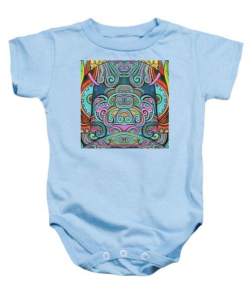 Swirly Design Baby Onesie