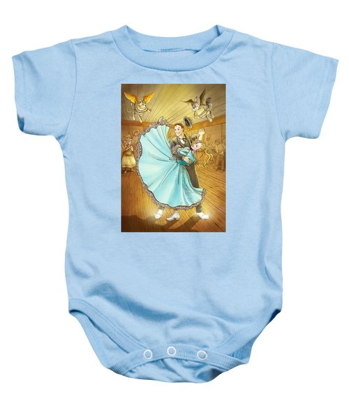 The Magic Dancing Shoes Baby Onesie