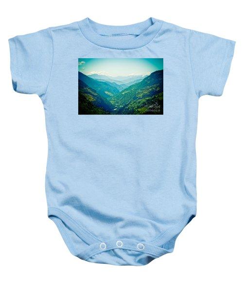 Valley Himalayas Mountain Nepal Baby Onesie