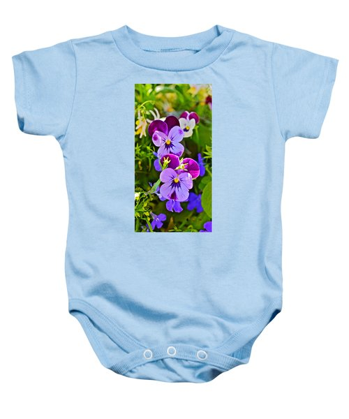 2015 Summer's Eve At The Garden Pansy Totem Baby Onesie