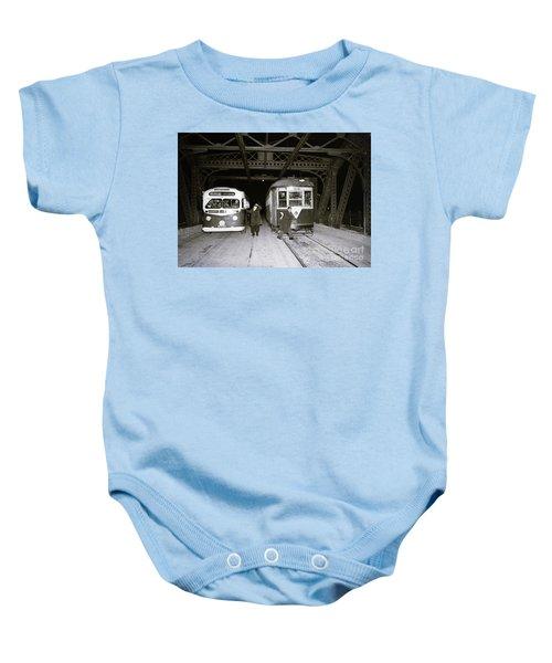 207th Street Crosstown Trolley Baby Onesie