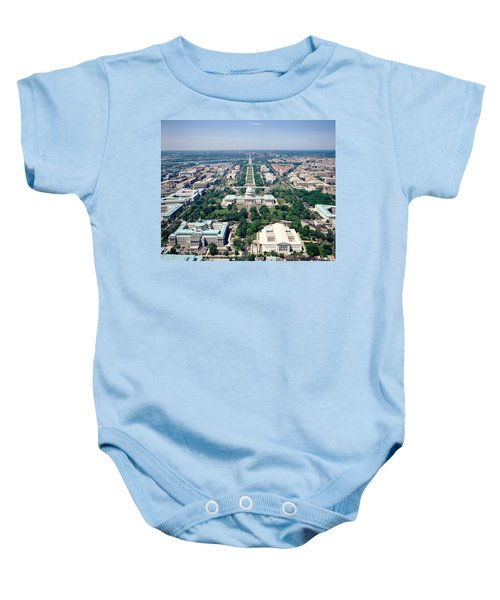 Aerial View Of Buildings In A City Baby Onesie