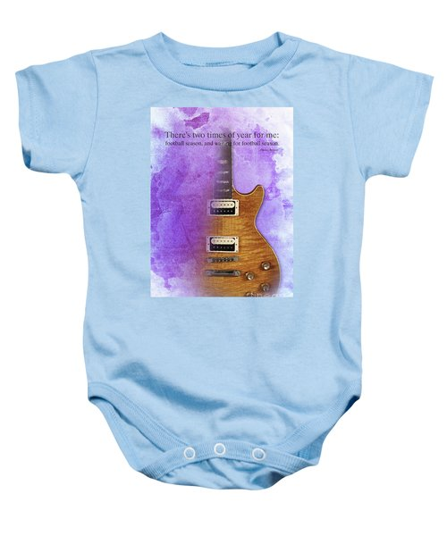 Darius Rucker Inspirational Quote, Electric Guitar Poster For Music Lovers And Musicians Baby Onesie by Pablo Franchi