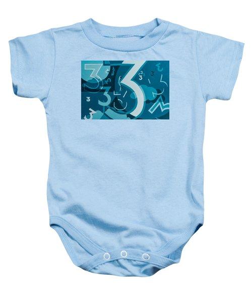3 In Blue Baby Onesie