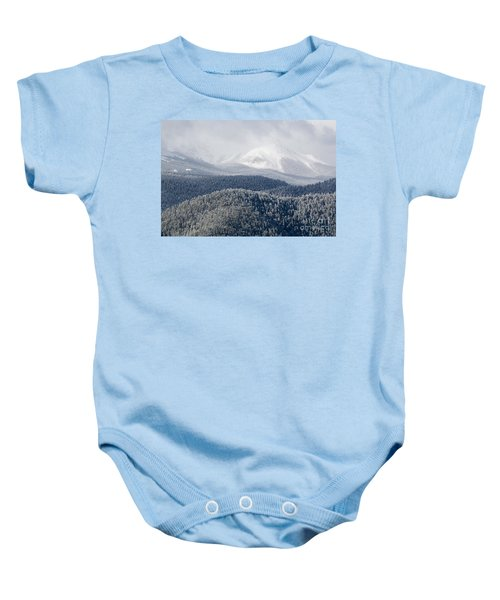 Pikes Peak In Snow Baby Onesie
