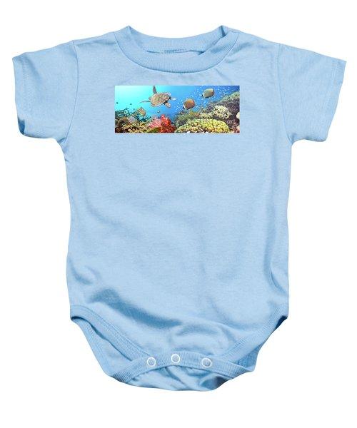 Underwater Panorama Baby Onesie