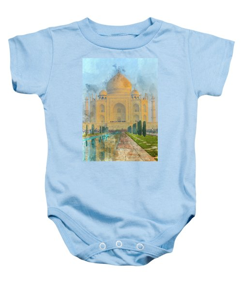 Taj Mahal In Agra India Baby Onesie