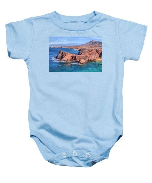 Playa Papagayo - Lanzarote Baby Onesie by Joana Kruse