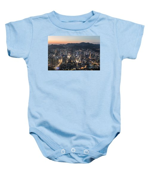 Sunset Over Seoul Baby Onesie