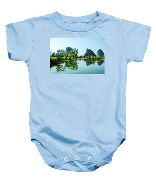 Karst Rural Scenery Baby Onesie