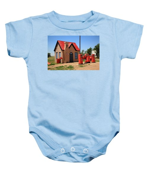 Baby Onesie featuring the photograph Route 66 - Phillips 66 Gas Station by Frank Romeo