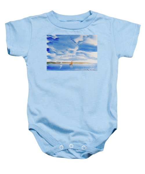 A Fine Sailing Breeze On The River Derwent Baby Onesie