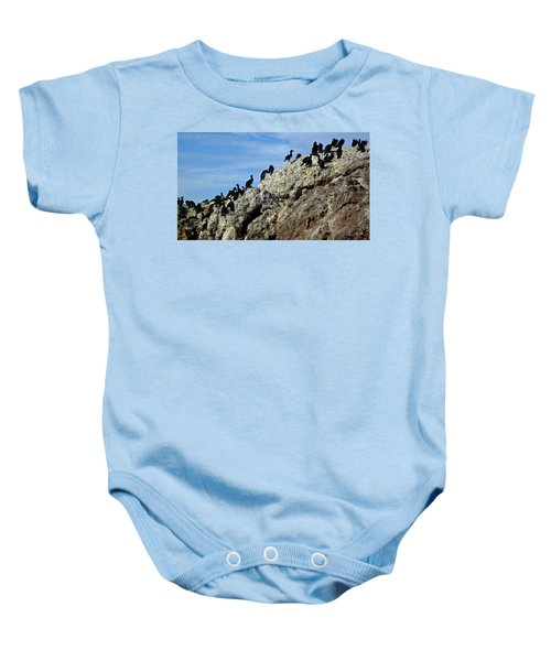 A Gulp Of Cormorants Baby Onesie