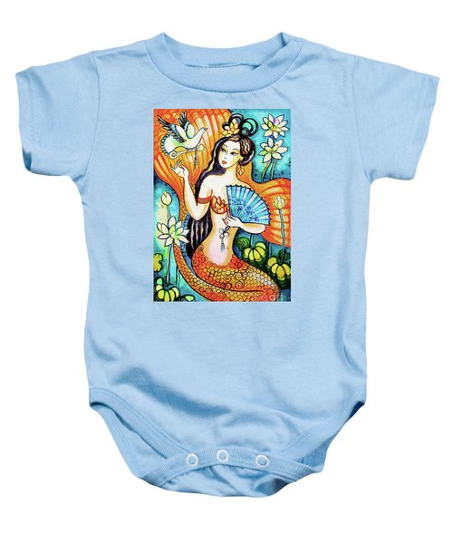 Baby Onesie featuring the painting A Letter From Far Away by Eva Campbell