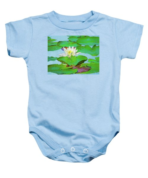 A Single Water Lily Blossom Baby Onesie
