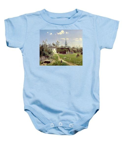 A Small Yard In Moscow Baby Onesie