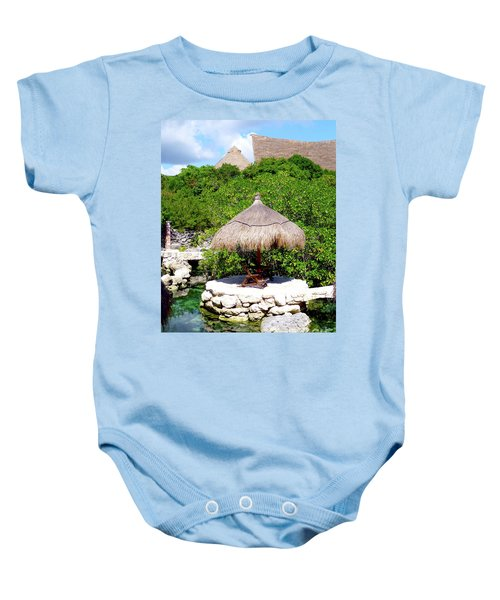 Baby Onesie featuring the photograph A Tropical Place To Relax by Francesca Mackenney