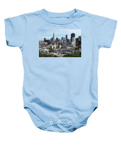 A View Of Downtown From Nob Hill Baby Onesie