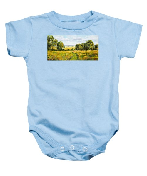 A Walk Thru The Fields Baby Onesie