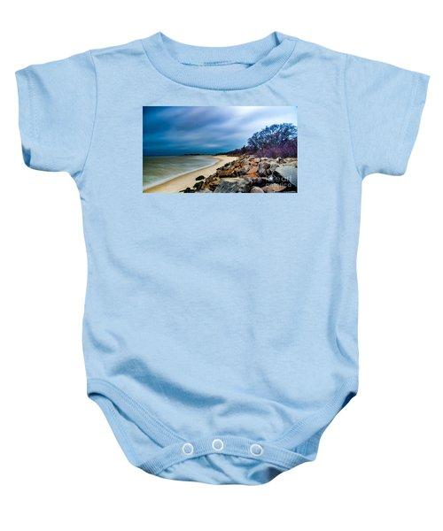 A Winter's Beach Baby Onesie