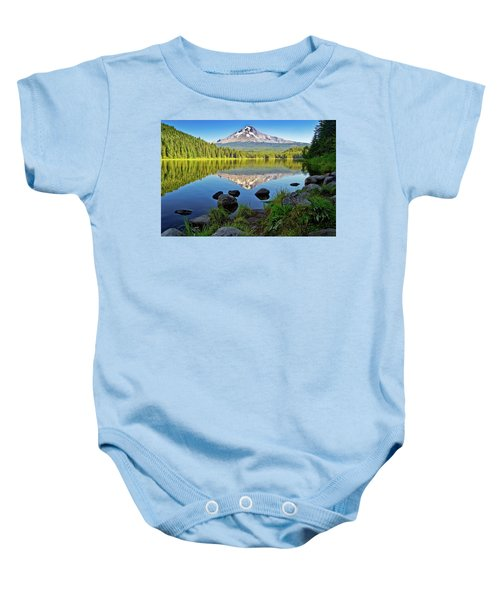 Above The Lake Baby Onesie