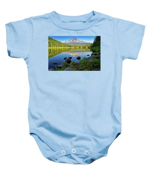 Above The Lake Baby Onesie