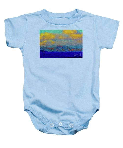 Abstract Landscape Expressions Baby Onesie