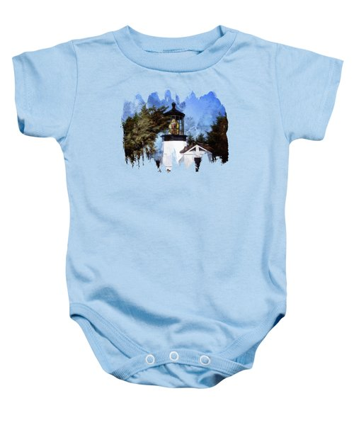 Afternoon At The Cape Meares Lighthouse  Baby Onesie